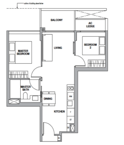 royalgreen-floor-plan-2-bedroom-b1-singapore